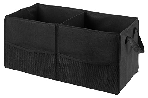 Fold Away Car Trunk Organizer, Black - 22' x 10' x 11' - Non-slip Fastener secures to your trunk and prevents sliding. Prevent items like auto supplies from rolling around or shifting in your trunk.