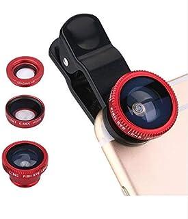 عدسة عين السمكة 3 في 1 لكاميرا الموبايل بمشبك لجميع الاستخدامات بزاوية ماكرو واسعة