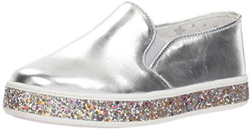 Steve Madden Girls' JGLOREE Sneaker, Silver, 3 M US Little Kid