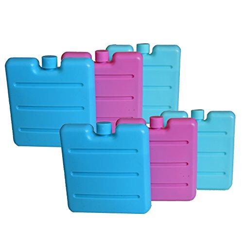 all-around24 6 unidades de acumuladores pequeños para la fiambrera Lunch Box Mini elementos de refrigeración para la bolsa refrigeradora batería (6 unidades)