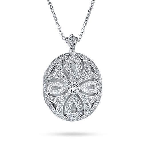 Bling Jewelry Vintage-Stil Filigrane Unendlichkeit Religiöse Kreuz Aromatherapie Ätherisches Öl Parfüm Diffusor Medaillon Halskette Für Frauen