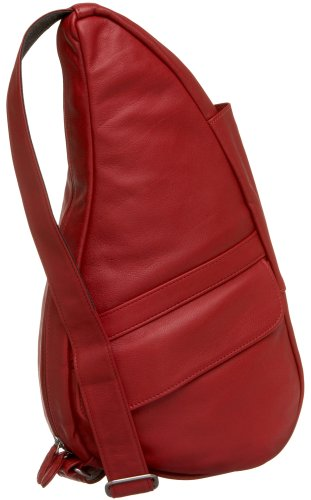 AmeriBag Small Classic Leather Healthy Back Bag,Bing,one size