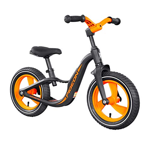 RCIN Kids Balance Bike 12 Inches Alloy Frame No Pedal Adjustable Seat Toddler Bicycle for 2-6 Year Old Toddler Boys Girls [Easy Assembly] Training Bicycle Best Gift for Kids