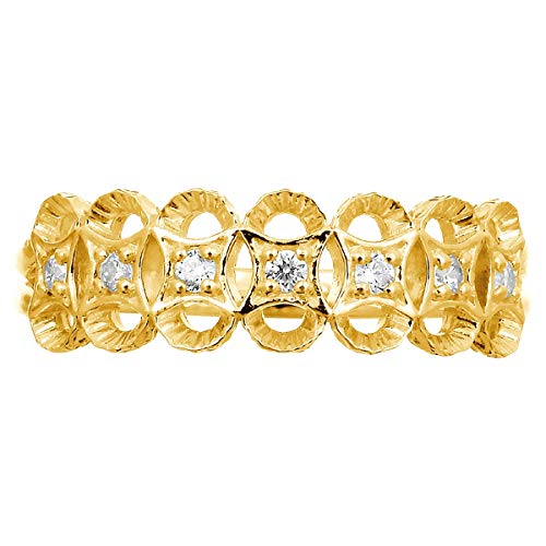 [ココカル]cococaru ダイヤ リング ダイヤモンドリング 指輪 18金 18k K18 ゴールド ギフト 記念日 プレゼント (イエローゴールド 8)