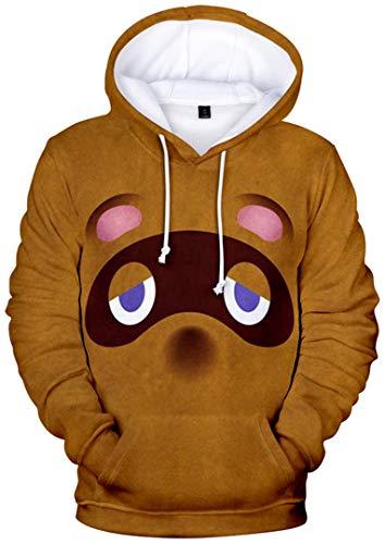 Silver Basic Animal Crossing Sweat-Shirt à Capuche avec Manche Longue Hoodie Décontracté Mode Ado Garçon Fille M,02704-2