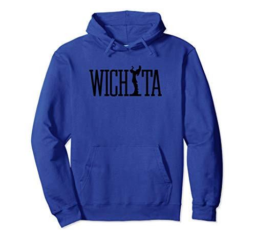 Wichita Keeper of the Plains (black) - Wichita Kansas Pullover Hoodie