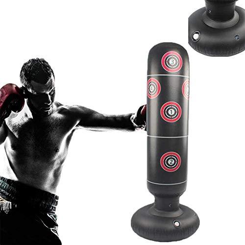 Wdsjxd Saco de boxeo hinchable para niños, 160 cm + bomba de aire