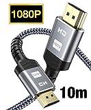 HDMI Kabel 10M-Snowkids High Speed HDMI Kabel aus Geflochtenem Nylon Unterstützt 3D/Audio...