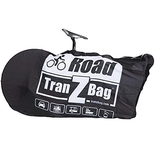 evoc TranZbag Road Fahrrad Transporttasche, Transportschutz für 28″ Laufräder (für Cross- und Gravel-Laufräder, faltbar, minimales Packmaß, Schultertragegurt, Doppel-Reißverschluss), Schwarz