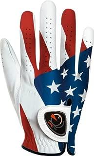 easyglove Flag_USA-2-M-R Men's Golf Glove (White)