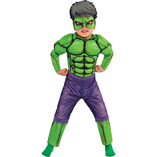 Suit Yourself Classic Hulk Muscle Halloween Costume for Toddler Boys, Size 3-4T, Includes a Jumpsuit and Mask