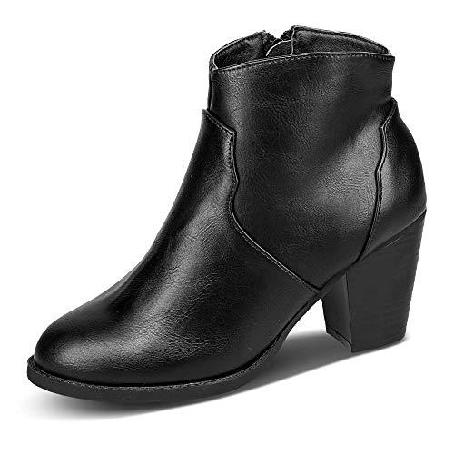 Claudia Ghizzani 2.073801 Damen Stiefelette aus Lederimitat mit Reißverschluss, Groesse 39, schwarz