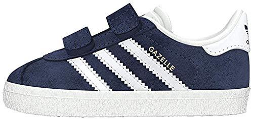 Adidas Gazelle CF I, Zapatillas Unisex niños, Azul (Collegiate Navy/Footwear White/Footwear White 0), 24 EU