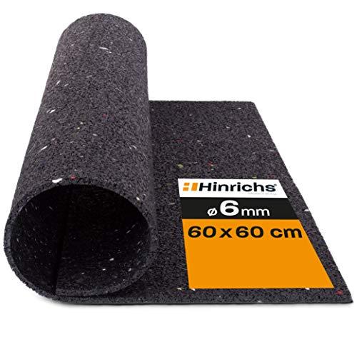 Hinrichs Antivibrationsmatte für Waschmaschinen - 60 x 60 cm Antirutschmatte Waschmaschine - Zuschneidbare Lärmschutzmatte als Waschmaschinenunterlage - Rubber Mat