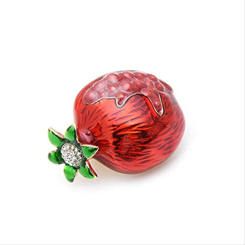 XZFCBH Broches Rojos de Fruta de Granada para Mujer Broches Broche Original