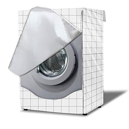 Funda Lavadora, Secadora de Carga Frontal para Lavadora Cubierta Impermeable para Lavadora (60x60x85cm,White)