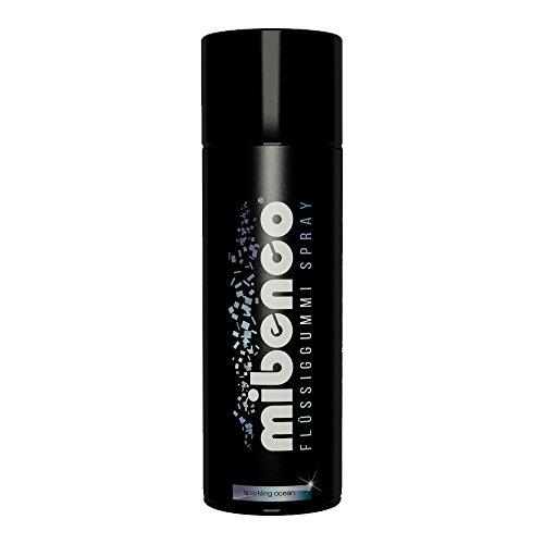 mibenco 71410004 Flüssiggummi Spray / Sprühfolie, Sparkling Ocean Glänzend, 400 ml - Neue Farbe und Schutz für Oberflächen und zum Felgen lackieren