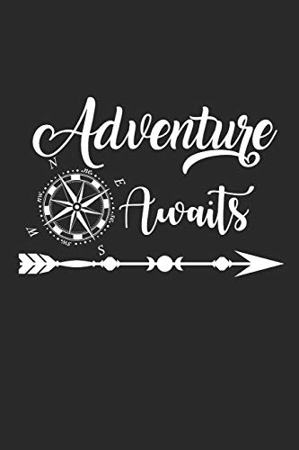ADVENTURE AWAITS: Camping Outdoor Notebook Camper dotted Notizbuch Planer 6x9 Punkteraster