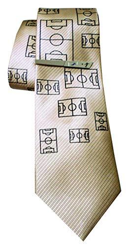 Unbekannt Fussball Set Seidenkrawatte + Krawattennadel Krawattenklammer + Geschenkhülle 1K