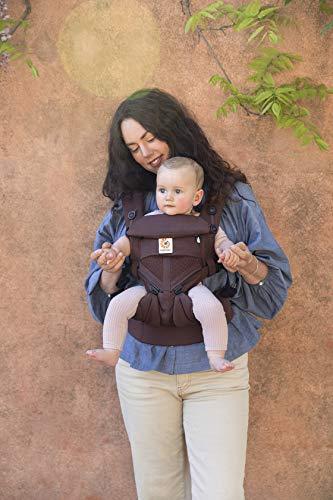 ERGO Baby エルゴベビー (Ergobaby) 抱っこひも メッシュ おんぶ 前向き抱き [日本正規品保証付] (洗濯機で洗える) ベビーキャリア 成長にフィット オムニ360 クールエア/ダークブラウン CREGBCS360PDKBN ダークブラウン 0か月~