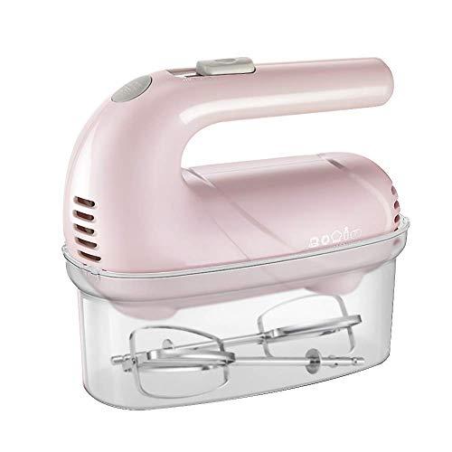 AYDQC Mini batidor de Huevos portátiles, mezcladores de Mano eléctricos for Cocina mezcladora de Manos de Cocina de 5 velocidades Mezclador de Soporte Mezclador Viejo batidor de Crema-Rosa fengong