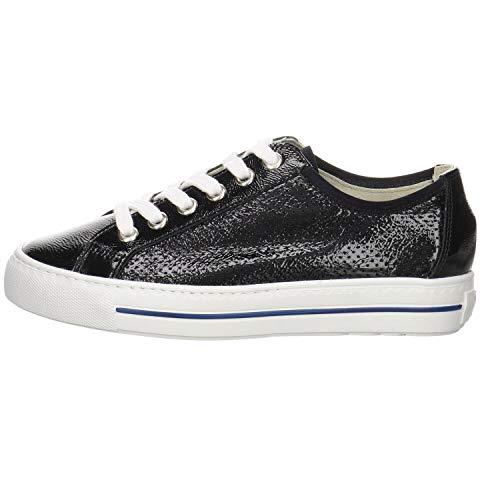 Paul Green Damen Sneaker Lackleder blau Gr. 37