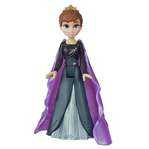 Disney Die Eiskönigin Königin Anna kleine Puppe mit abnehmbarem Umhang, inspiriert durch Die Eiskönigin 2, Spielzeug für Kinder ab 3 Jahren