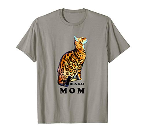 Bengal Cat Mom shirt - Domestic Rosetted Brown Bengal cat -