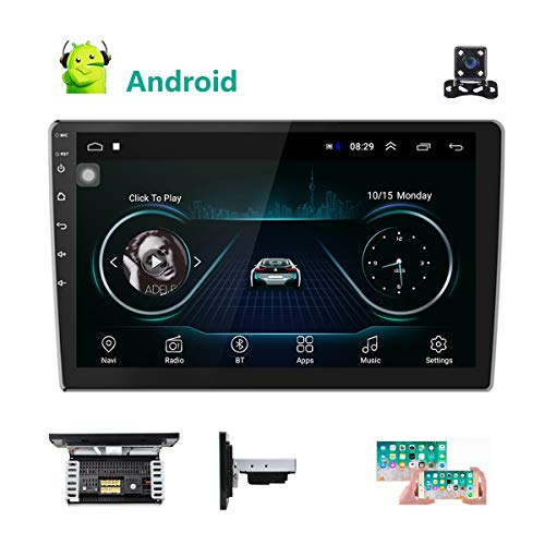 Android 8.1 Car Stereo Radio GPS Navigation 10.1 Inch Touch Screen Video Audio Receiver Bluetooth WiFi FM Radido Car MP5 Player Mirror Link 2 USB 1G 16G Car Multimedia Player + Rear View Camera