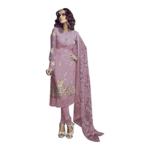 ETHNIC EMPORIUM New Indian Pakistani Straight Salwar Kamiz Kameez Suit Kurti Bollywood Girl Top Straight Pant Wedding Suit Georgette Damen Dirndl Hochzeit Frauen Party Women 2520