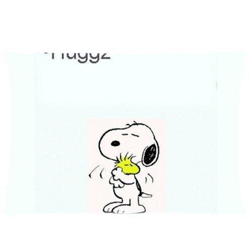 Snoopy houten knuffel pinda's kussenslopen op maat kussensloop kussensloop 20 X 30 inch twee zijden