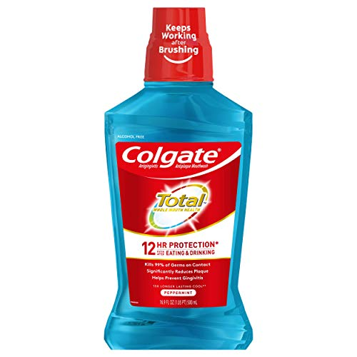 Colgate Total Pro-Shield Alcohol Free Mouthwash, Peppermint - 500mL,...
