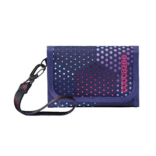 coocazoo AnyPenny Purple Illusion Wallet with Window Inside & Outside Coin, Multiple Card Slots, Velcro Fastening for Girls