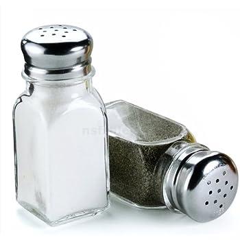 Wholesale overstockedkitchen GC-TWR-GLC-12 Dozen Chrome Top Tower Salt Pepper Shaker