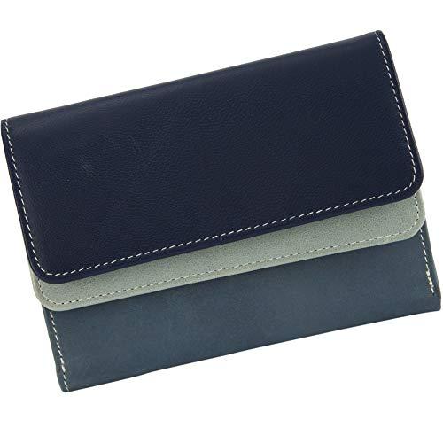 Sunsa Geldbörse für Damen Kleiner Leder Geldbeutel Portemonnaie mit RFID Schutz Brieftasche mit viele Kreditkarten Fächer Geldtasche...