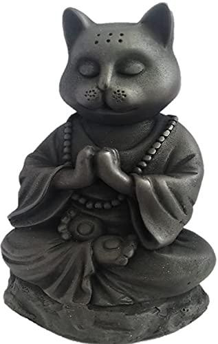 JB Exports Buddha Cat Statue in Meditating Pose for Zen Kitty Memorial Or Spiritual Decor. Dhyana Mudra Pose Yoga.
