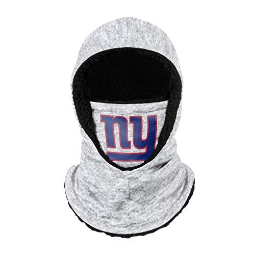 FOCO New York Giants NFL Heather Grey Big Logo Balaclava Hooded Gaiter, Adult (SVNFGRHDSN)