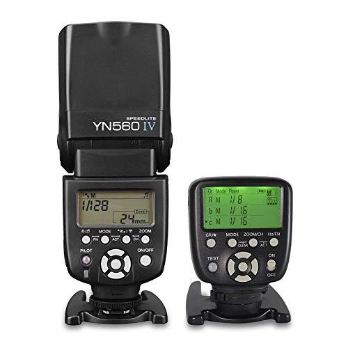YONGNUO YN560 IV Wireless Flash Speedlite + YN560-TX II N LCD Flash Trigger Remote Controller for Nikon