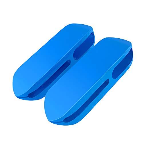 ケーブルホルダー ケーブルクリップ デスク コンピュータデスク USBデータケーブル マウスライン キーボードライン 充電ケーブル ヘッドフォンケーブルの整理に適し 高品質3M両面テープ (2個) (青)