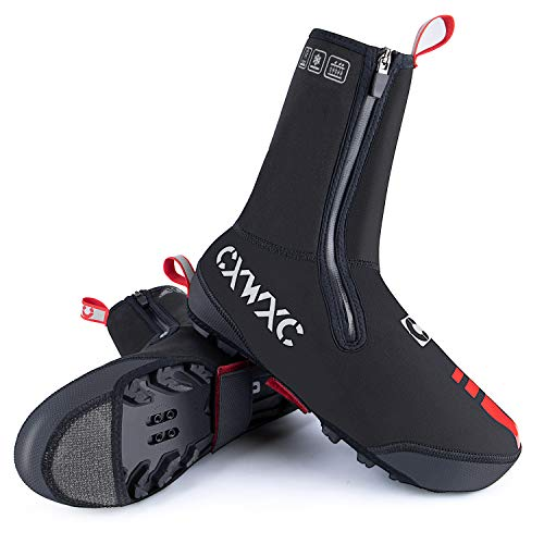 CXWXC Cycling Shoe Covers Neoprene Waterproof,Winter Thermal Warm Full Bicycle Overshoes for Men Women,Road Mountain Bike Booties