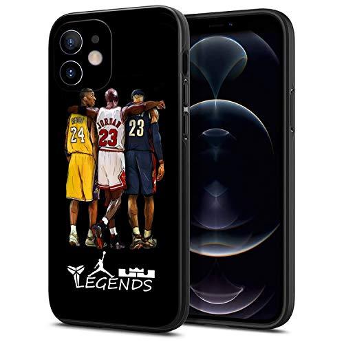 AZAKKA iPhone 12 case, Basketball NBA Theme Kobe James,Flexible TPU 6.1'' Protective Cover,Ultrathin Anti-Fall Soft Shell Black