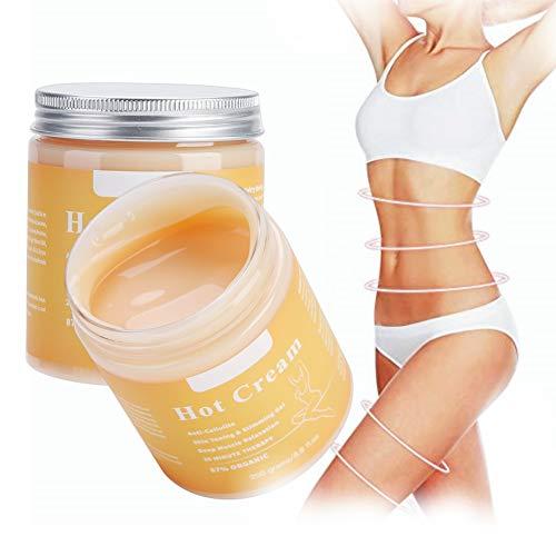 Körpercreme, Anti Cellulite Creme, Hot Cream Fat Burner Shaping Cream Massage Hot Anti-Cellulite, Straffende CrèMe Aktiviert Die Haut Kontur
