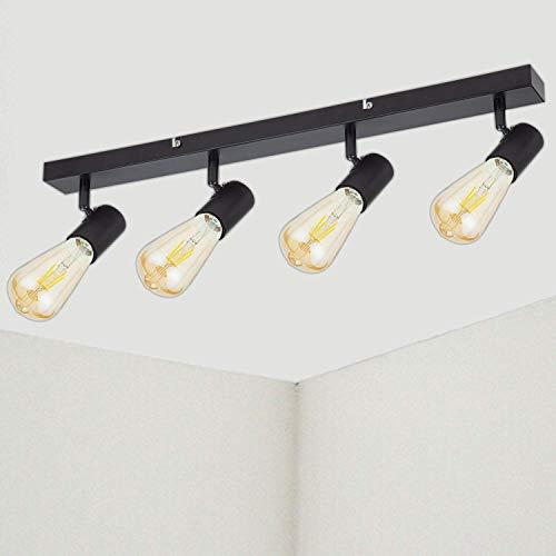 Lámpara de Techo con 4 Focos LED E27 Ketom, Lámpara de pared...