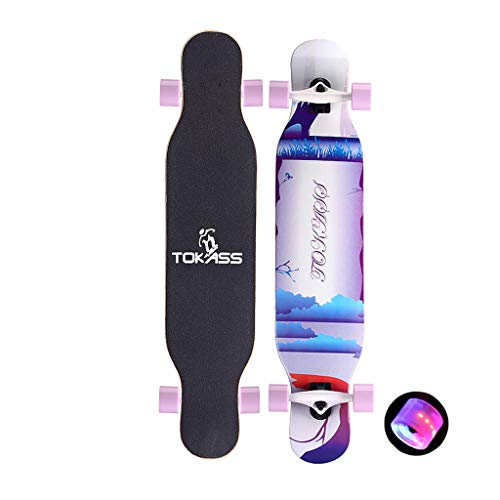 """HYE-SPORT Longboards Skateboard Skateboard with LED Light Up Wheels 