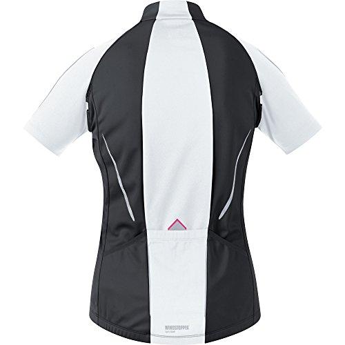 GORE WEAR Damen Jacke Phantom 2.0 Windstopper Soft Shell, Black/White, 36 - 8