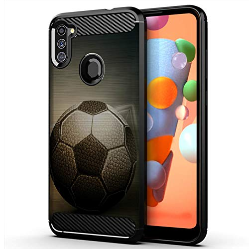 CasesOnDeck Sports Case Compatible with Samsung Galaxy A11 / A11 Case (2020)- Flex Max Matte TPU Perfect Fitted Case Slim and Elegant (Vintage Soccer)