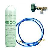 ENVASE GAS R600 ISOBUTANO REFRIGERANTE 420gr + VALVULA + MANGUERA CARGA