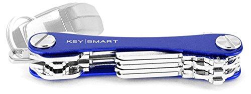 KeySmart Extended | Kompakter Schlüsselhalter und Schlüsselbund Organisator (2-14 Schlüssel, Blau)