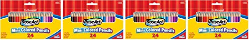 RoseArt 3.5-Inch Mini Colored Pencils Assorted Colors 24-Count Packaging May Vary (1026VA-48) (4)