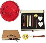 MNYR Vintage Cute Rat Sealing Wax Seal Stamp Wood Handle Melting Spoon Wax Stick Candle Gift Book Box kit Wedding Invitation Embellishment Holiday Card Christmas Gift Wrap Package Seal Stamp Set